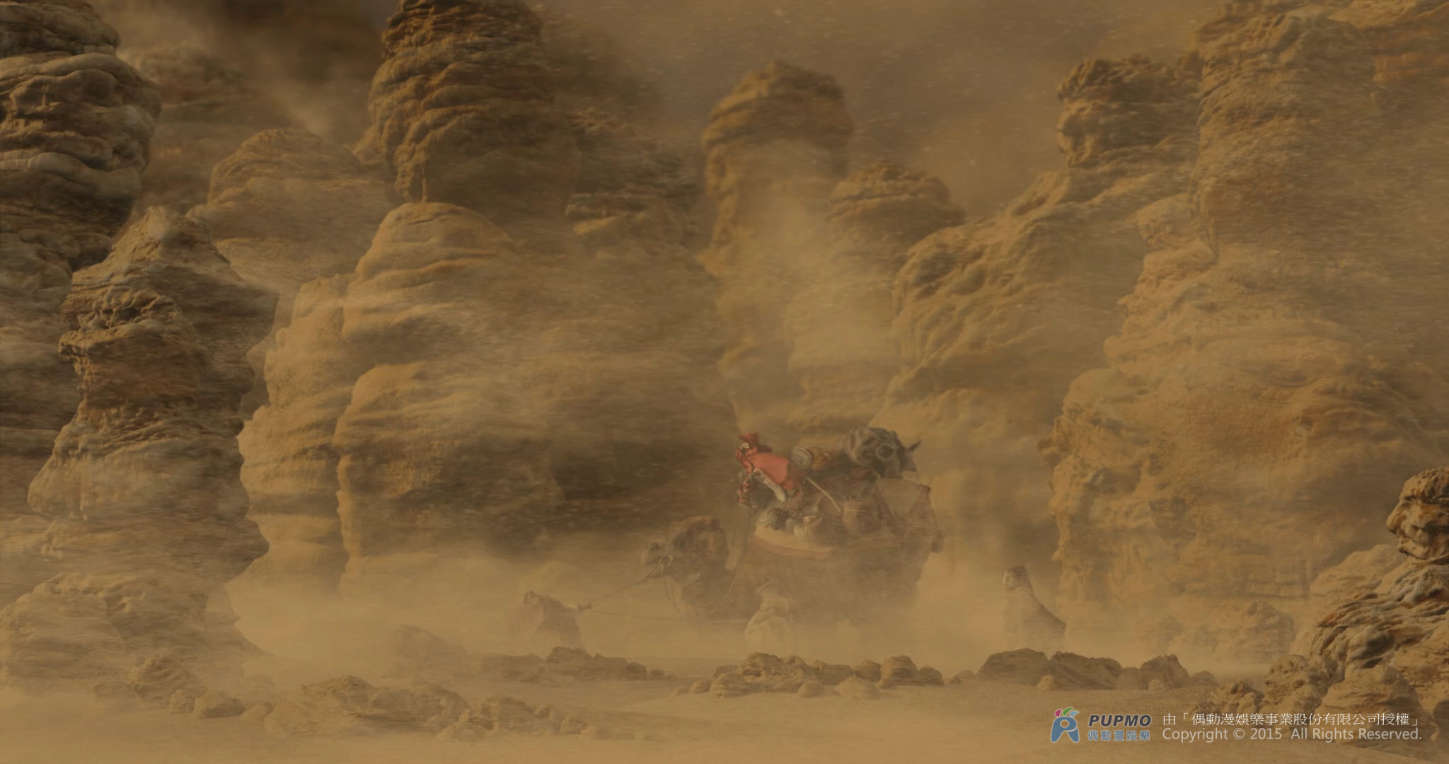 Movie - The Arti : The Adventure Begins - CGI & VFX : scene and sandstorm effect. Click to view large image.