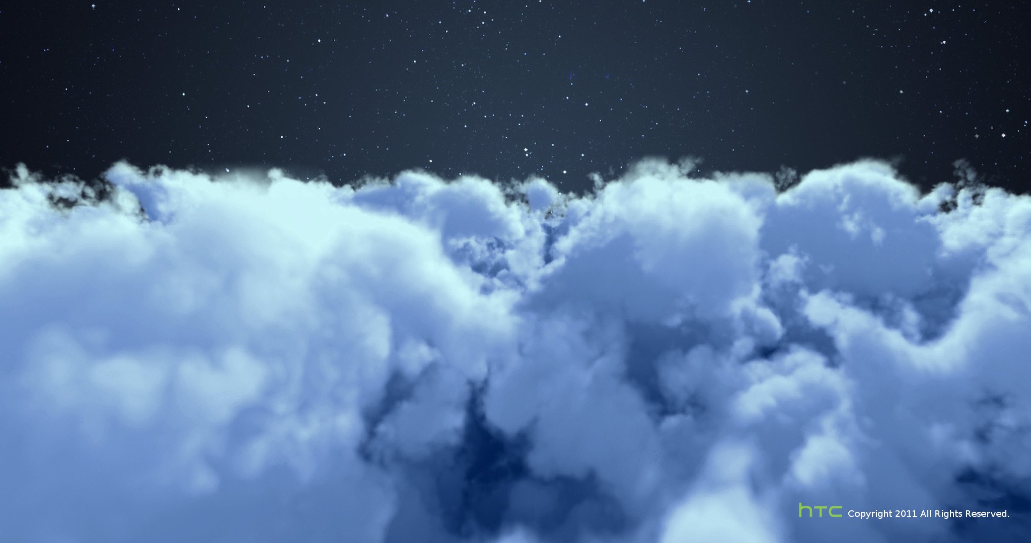 HTC mobile phone - Weather animation video ( cloudy-Night ). Click to view large image.